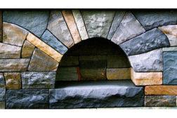 9-inch stone veneer over CMU