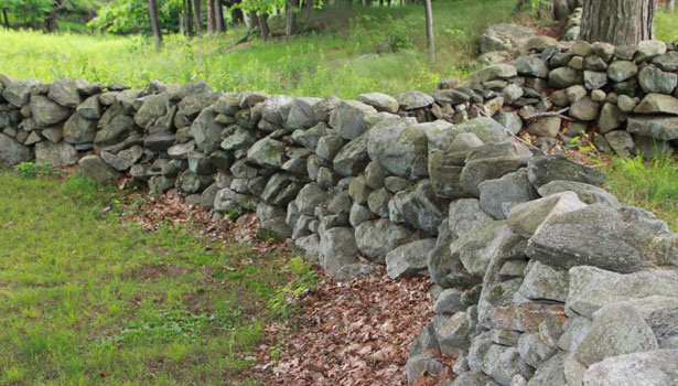 How To Build A Stacked Stone Garden Wall