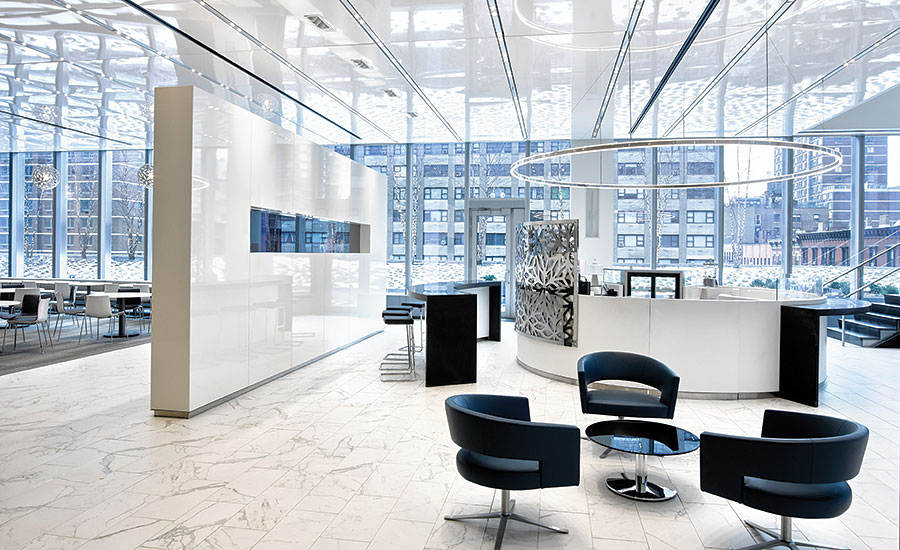 The new headquarters of Kaye Scholer in New York City used a range