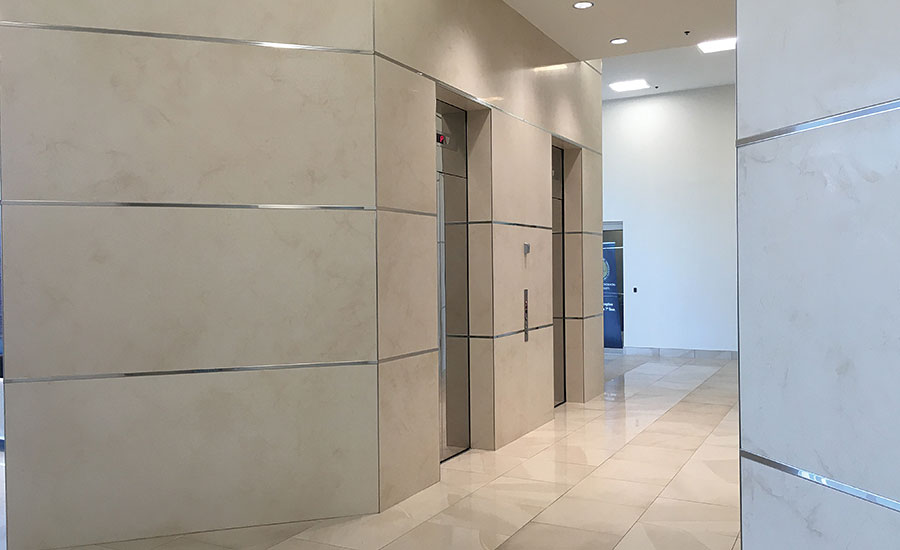 Interior Designer For A Commercial Space Used Laminam To