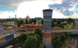 Restoring a colorful landmark