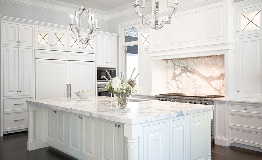 A Large Selection Of Calacatta Extra White Marble Required