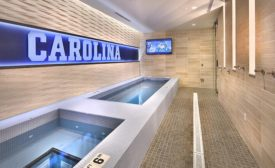 UNC men's basketball locker room