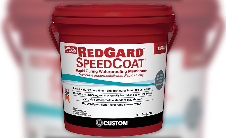 RedGard SpeedCoat from Custom Building Products