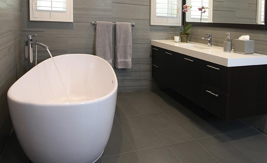 Surprising Transforming Two Outdated Southern California Bathrooms Interior Design Ideas Pimpapslepicentreinfo