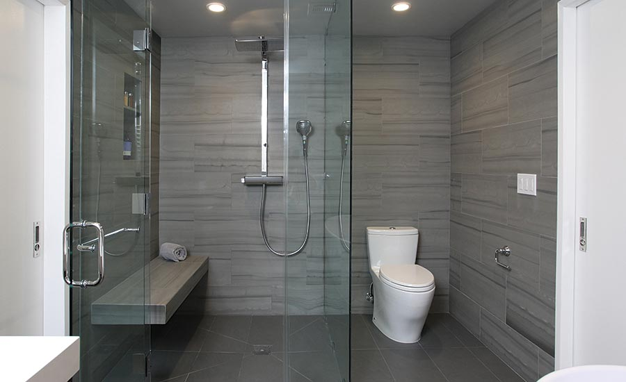 Gentil U201cThe Shower Was A Fun Shower To Design,u201d Said Grubb. U201cSame As The Master  Suite, It Features A Zero Threshold Entry To Make The Room Seem Bigger.