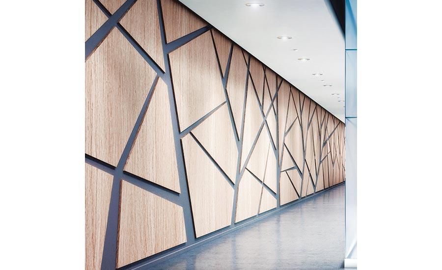 Mounting systems and geometrical wall cladding