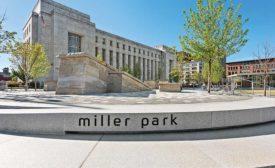Regional sandstone at Miller Park in Chattanooga, TN