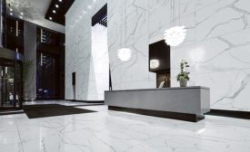 Large tile panels for horizontal and vertical applications