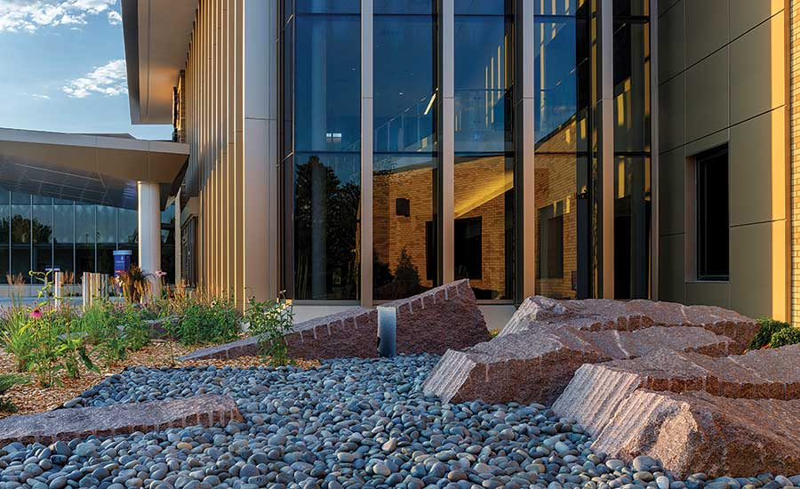 stone blocks were hand-picked by the landscape architect