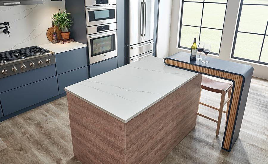 countertop colors incorporate hints of blue