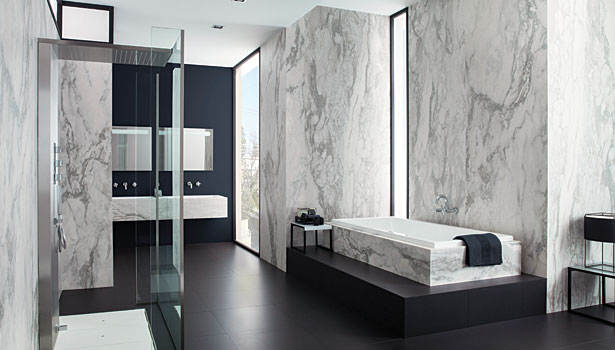 The growing popularity of thin porcelain tile 2014 09 for Porcelanosa carrelage mural