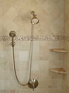 ... The Italian Tile Manufacturer Panaria Ceramica. Additionally, The  Shower Includes A Decorative Border Consisting Of Clear Resin Botticino  Pebbles With ...