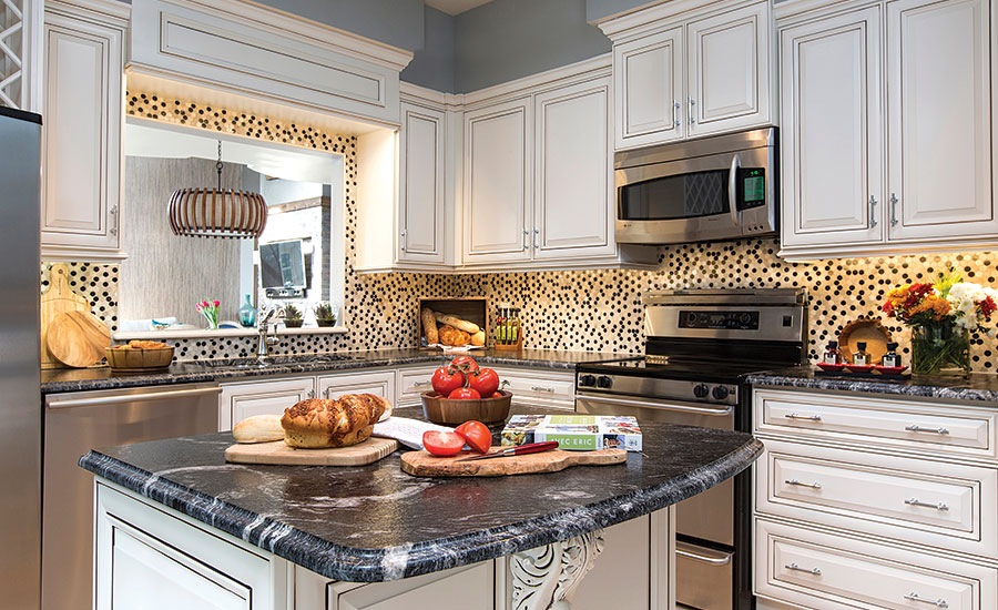 Neutral and earth tone colored tiles used for condominium Master tiles design for kitchen