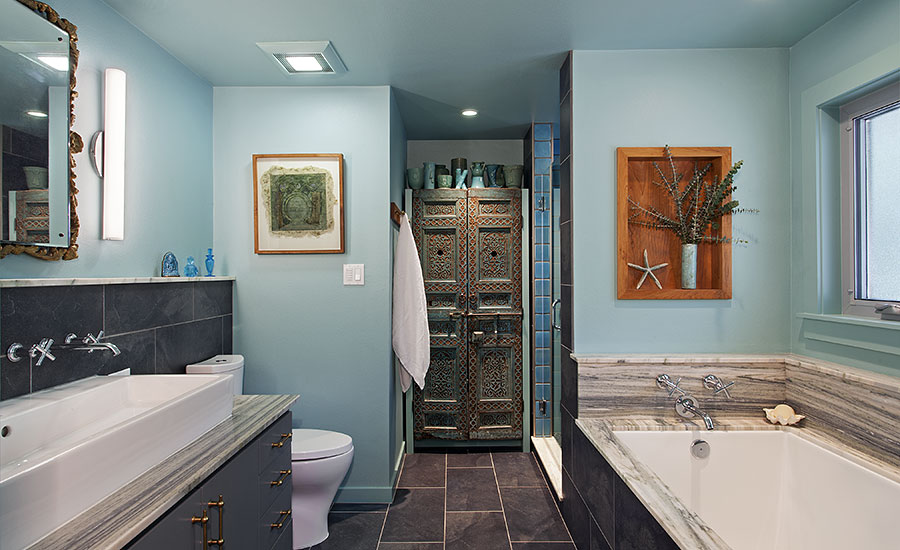 Ceramic and porcelain tile used to complemenet each other for Bathroom remodel 2015