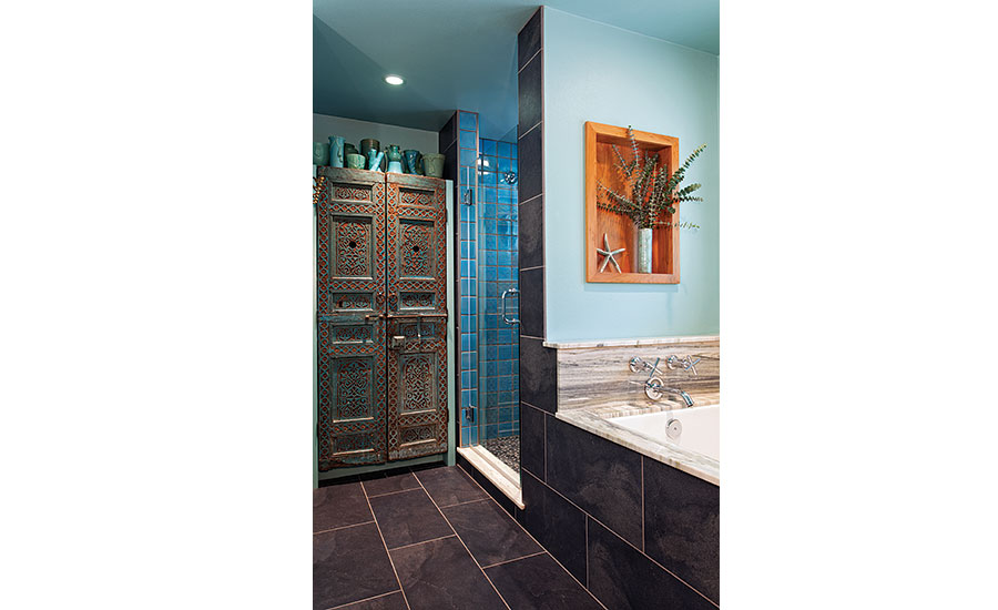 Ceramic and porcelain tile used to complemenet each other in Texas ...