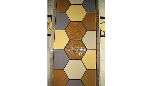 large-format honeycomb tiles