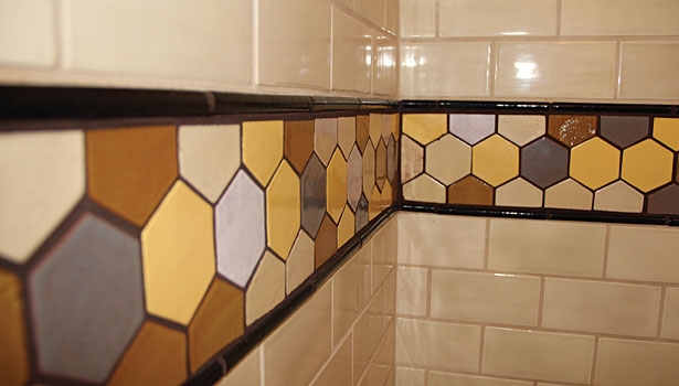 mesh-mounted honeycombs tile