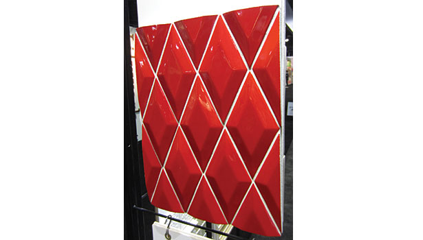 Flatiron Diamond in Matador Red Gloss by Ken Mason Tile