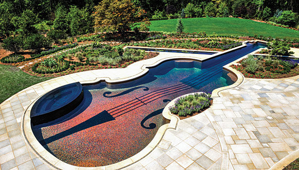 Glass tile used for pool in a private residence in Bedford, NY ...