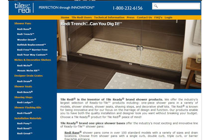 Tile redi new website