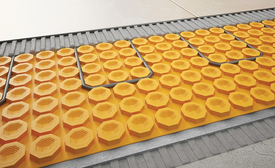 Ditra-Heat-Duo uncoupling membrane from Schluter Systems