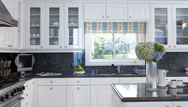 Reflecting on current kitchen and bath trends 2012 04 02 for Navy blue granite countertops