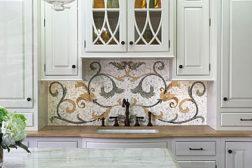 marble mosaic backsplash