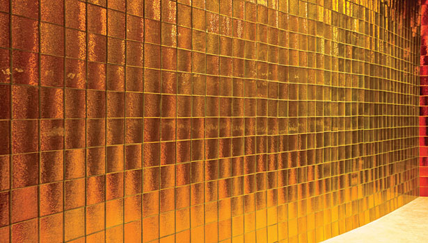 Gold Glass Wall