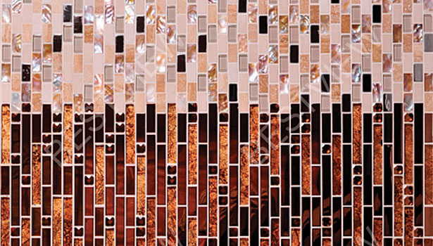 Strip Metal Mixed Mosaic