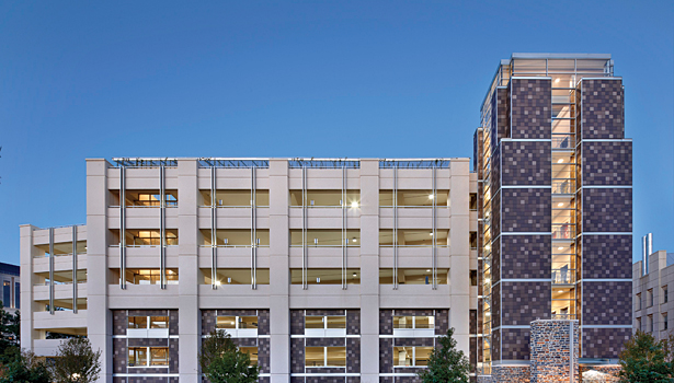 Duke University's new 1,900-car parking garage