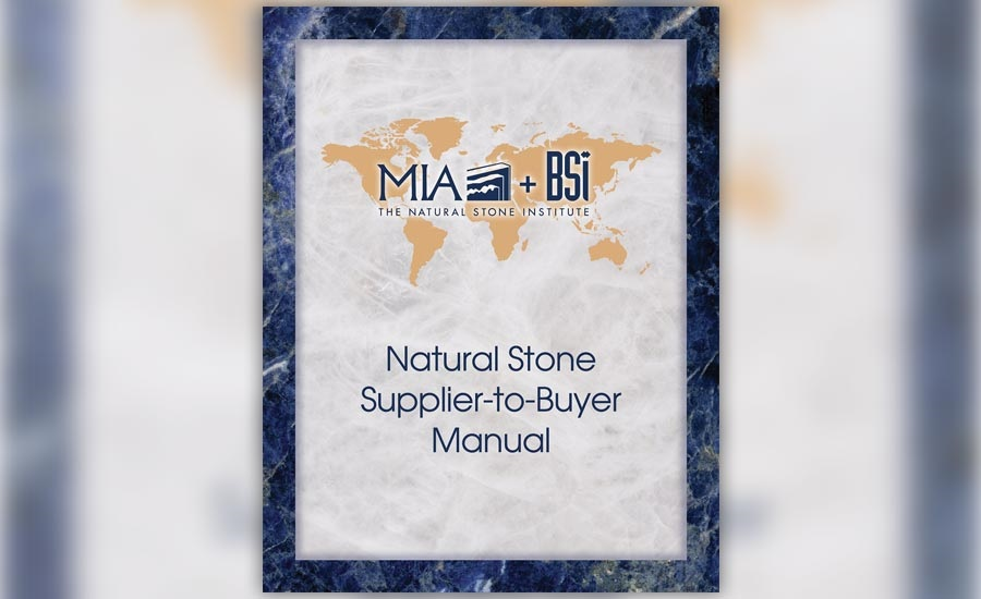 New product- The Natural Stone Supplier-to-Buyer Manual from MIA+BSI