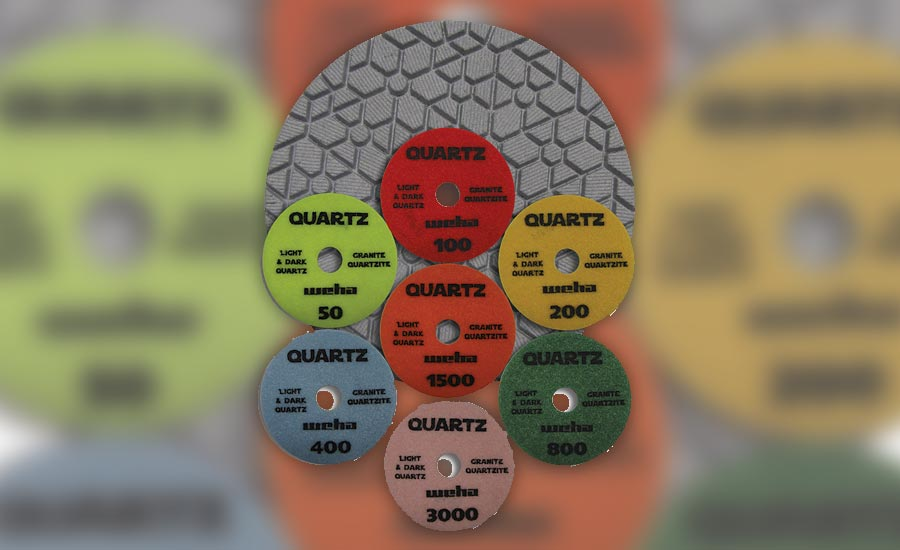 The new Weha Quartz Diamond polishing pads from Weha USA