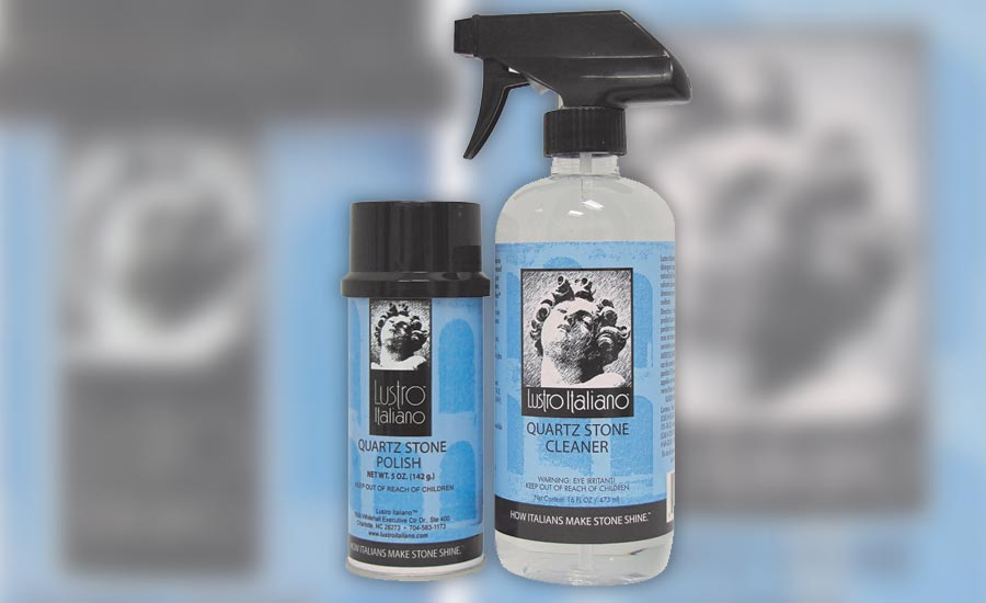 The new Lustro Italiano quartz stone cleaner and polish from Tenax