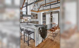 Art House's Dalamata dolomite kitchen island