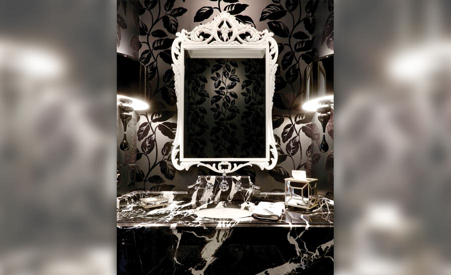 Custom residential bathroom vanity