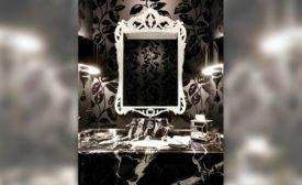 Custom residential bathroom vanity