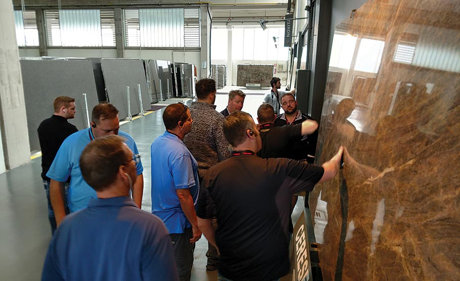 Beau Usselman led tour of Cereser's 400,000-square-foot facility