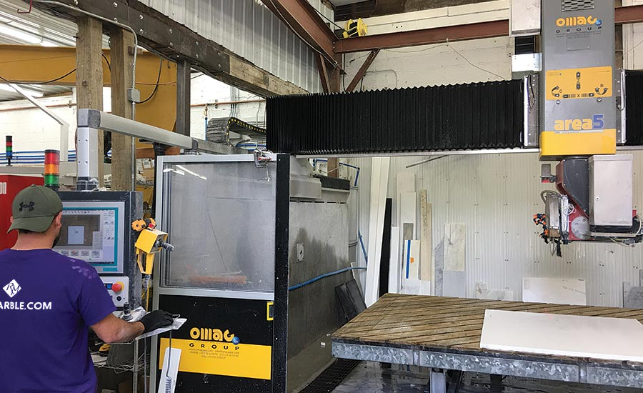 Omag Area5 CNC stoneworking center