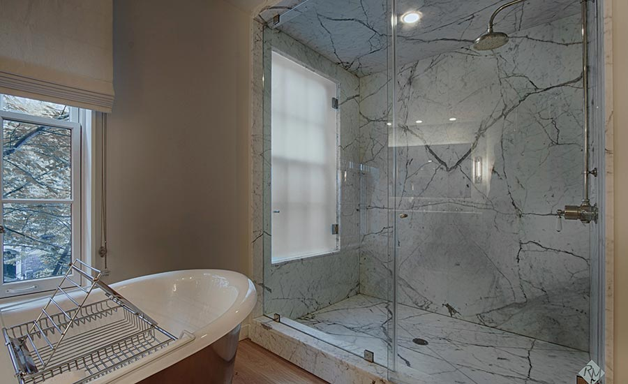 residential bathroom job from Rye Marble Inc.
