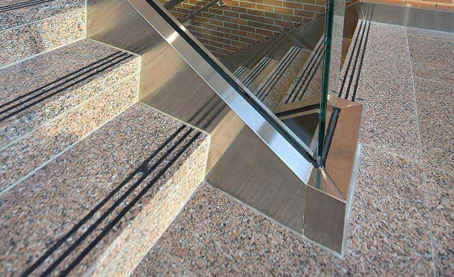 Stony Creek granite flooring and stairs