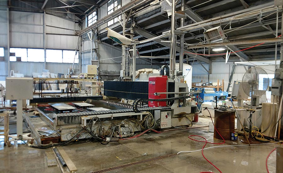 Titan CNC stoneworking center from Park Industries