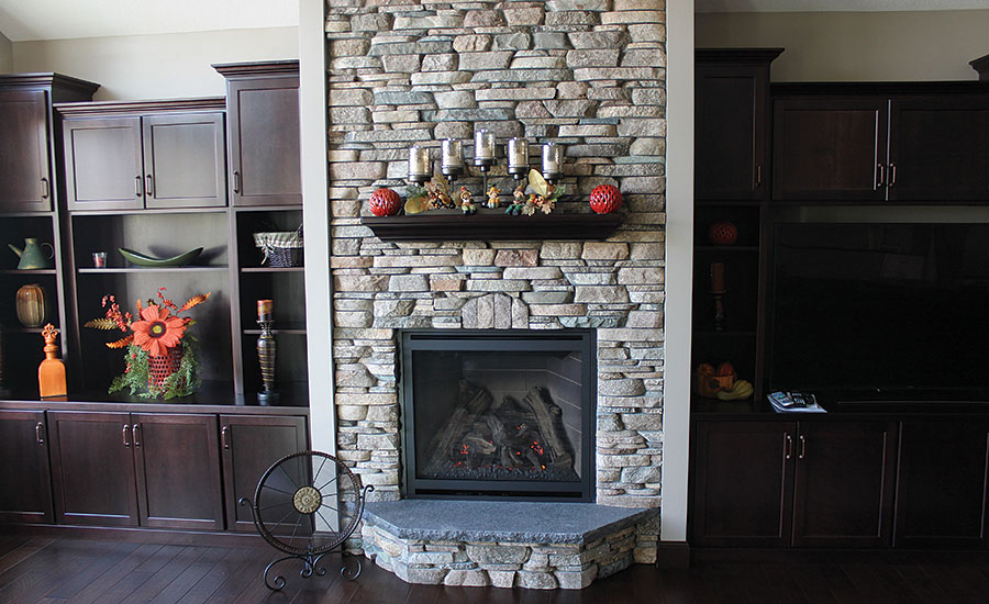 fireplaces with RealStone products
