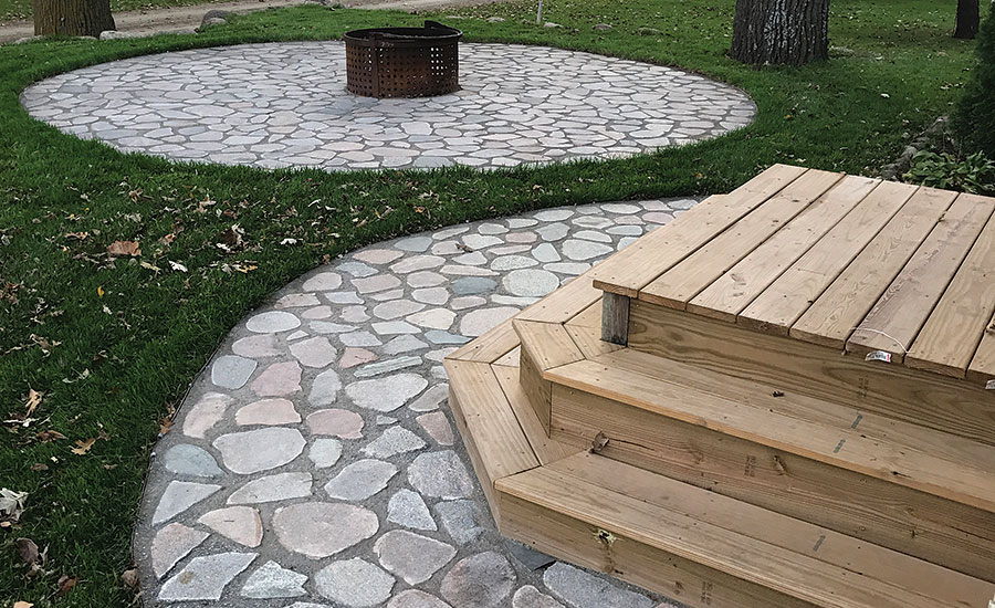 outdoor applications, including patios and walkways