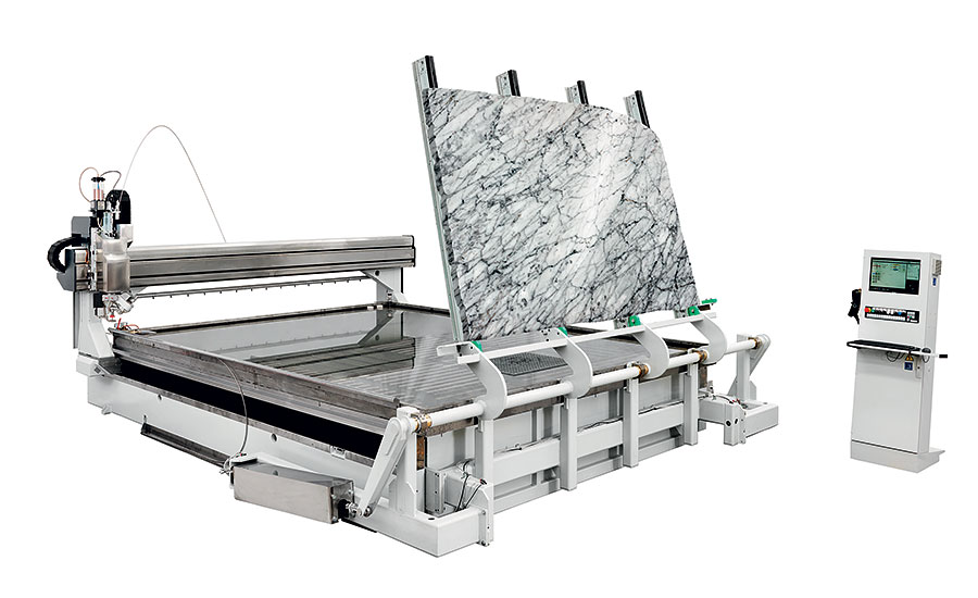 The Primus 322 waterjet cutting system by Intermac