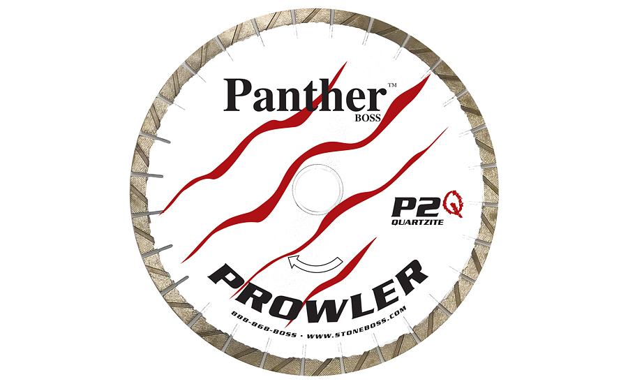 Panther Prowler Q (P2Q) quartzite bridge saw blades from Stone Boss