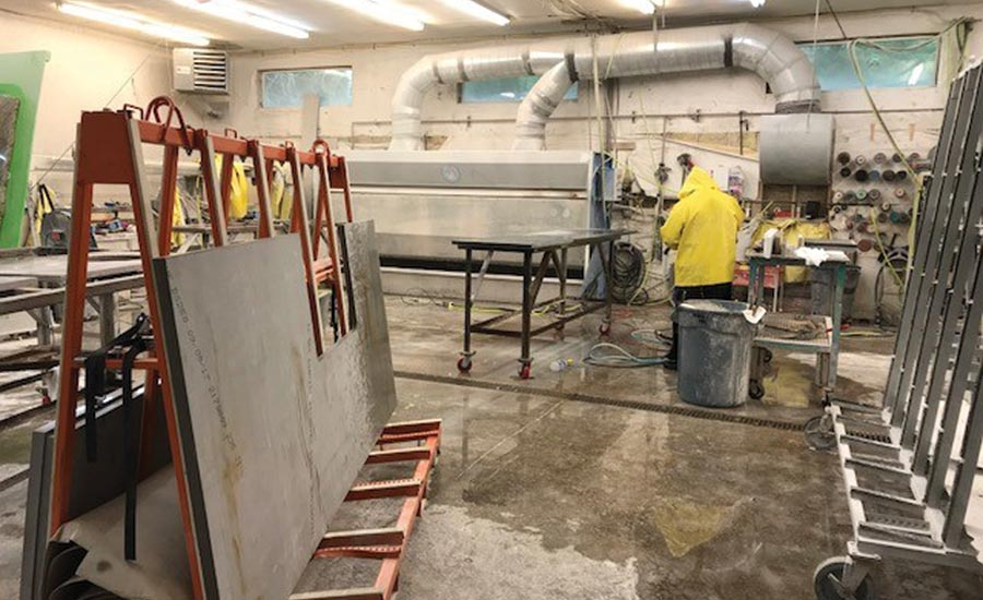 Creative Countertops fabrication shop