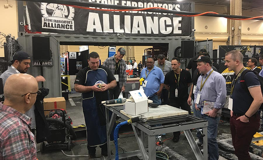 Stone Fabricator's Alliance educates in The Cage