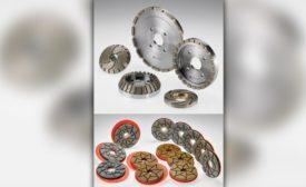 Diamut polishing wheels for edge polishing machines