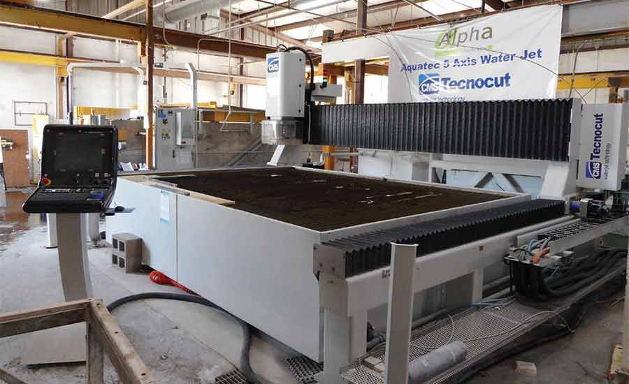 CMS 5-axis Technocut Aquatec waterjet
